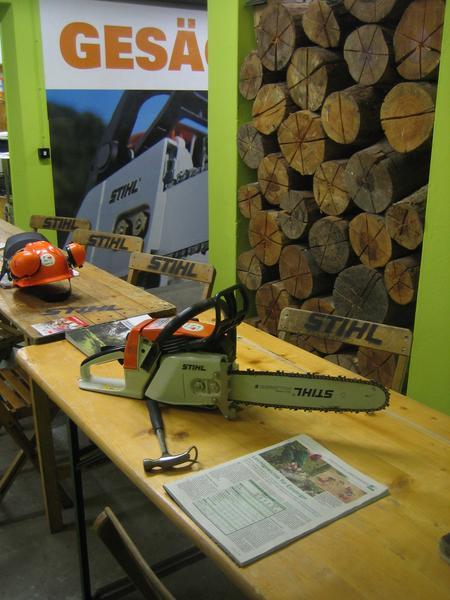 Kettensägenworkshop Schulungsraum bei Camino