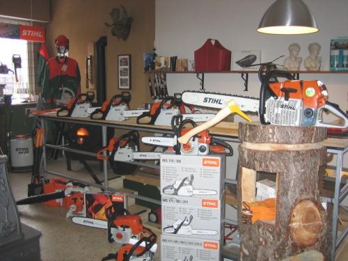 STIHL Geräte in unserer Ausstellung